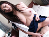 Incredibly hot brunette from Japan Yukari tops her boy's dick