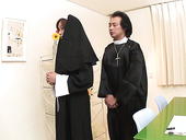 Horny nun from Japan Hitomi Kanou turns into slutty nympho thirsting for sex