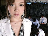 Hot and sexy Japanese secretary Aiko Hirose gonna please all the male co-workers