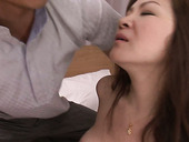 Lovely Japanese babe Ichika Asagiri blows two dicks at once