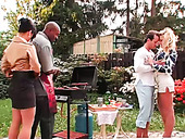 Barbecue party turns into a hot group fuck with sexy dick hungry sluts