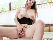 Baggy Russian milf drills her snatch with dildo rabbit