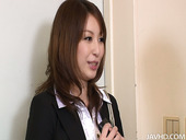 Seductive bar woman Araki Hitomi lets horny client to play with her boobs