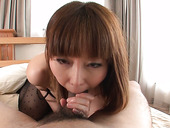 Arousing Japanese mom Minami Kitagawa gives blowjob in pov sex scene