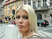 Kinky blonde with gorgeous  body gets naked in public