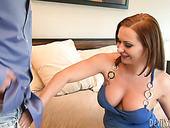Redhead mom is nailed hard missionary style
