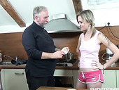 Sporty horn-mad gal Lenka desires gets her juicy pussy licked by gaffer