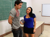Flirtatious teacher Cherokee seduces her student to fuck her hard