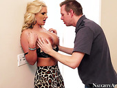Big breasted blonde Phoenix Marie gets fucked from behind