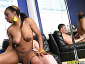 Incredibly hot ebony girl rides cock like a pro