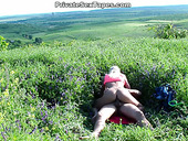Sexy amateur blondie has nothing against being fucked from behind in the field