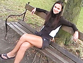 Dirty-minded brunette has nothing against being fucked doggy on the picnic