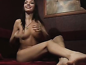 Jaw dropping brunette is ready for a tough poking of her wet cunt from behind