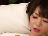 Kinky Japanese wench is drilling her asshole with fat dildo