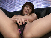 Lewd Japanese mom masturbates with small vibrators