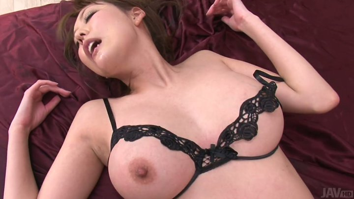 Akari Asagiri is creampied after hardcore double penetration action