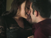 Black haired sexploitress Chanel Preston loves getting her tits licked