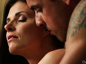 Beautiful sexy brunette India Summer bends over to be fucked doggy in the morning