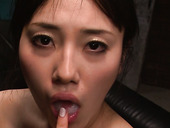 Tasty looking Japanese harlow Azusa Nagasawa gives double blowjob