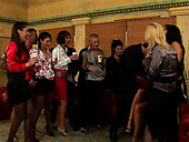 Lustful babes having fun at the bachelorette party