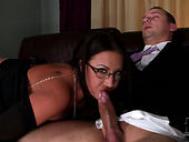 Well figured brunette mom pumping big dick in 69 sex position