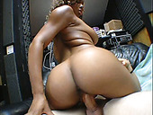 Lascivious ebony girl is riding solid prick in a hot cowgirl sex position
