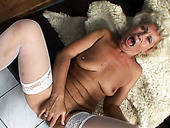 Filthy granny with insatiable sex hunger is fucking hard in a missionary position