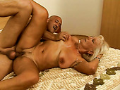 Randy granny fucking hard in provocative porn clip