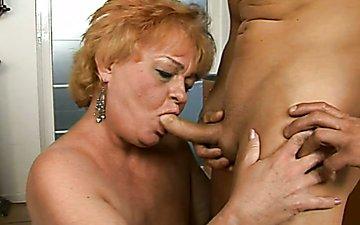 Granny blowjob xxx