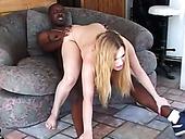 Hussy blonde bitch Kayla Marie gets messy facial