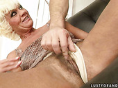 Sassy mature slut gets her asshole fingered by her horny lover