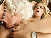 Old and young lesbians make each other cum with their tongues