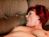 Flamboyant mature BBW gets her fat stinky pussy tongue fucked by young lover