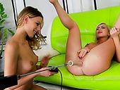 Hot like hell kinky lesbians Isabella Clark and Berinice enjoy hardcore anal action