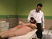 Lustful bimbo gives her gynecologist one hell of a blowjob