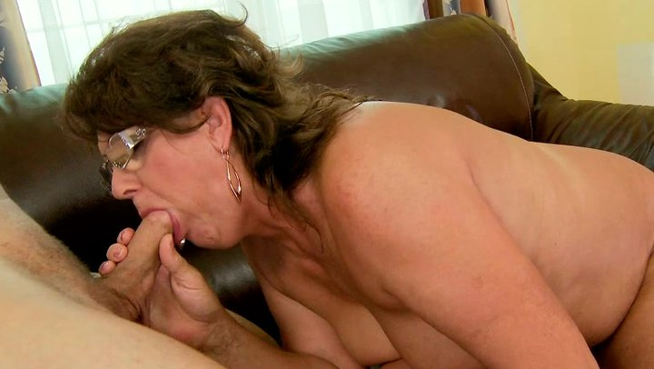 Sexy mature deepthroating my cock ii