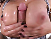 Busty hooker London Keyes rides dick on top before getting nailed bad in sideways position