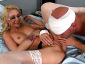 Cock lover Alexandra riding a large D of her ex boyfriend
