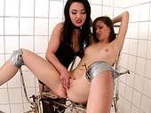 Lovely brunette Candy Sweet gets punished hard by her mistress