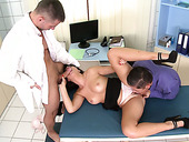 Buxom brunette Ava Dalush takes part in MMF threesome