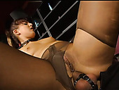Lascivious whore Silvia Lancome gets fucked in sideways position