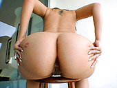 Bang Bros' babe shows off her round booty before giving stour blowjob in POV