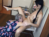 Granny still has some skills on finger drilling wet pussy