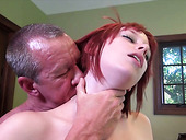Sex-starved redhead rides her lover's dick reverse cowgirl style