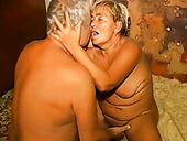 Luscious BBW granny gets fucked missionary style by old dude