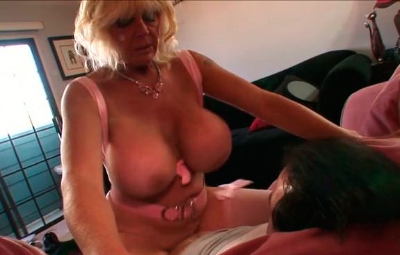 Granny riding a big dick