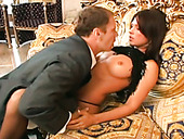 Nasty Rocco Siffredi licks tasty feet and fucks two assholes in threesome