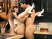Fucktastic wife in lingerie gets banged by husband in kitchen