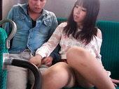 Elegant Japanese teen with big tits Chinatsu Kurusu gives nice blowjob