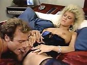 Slutty blonde Jane Bond gets her muff eaten out and fucked hard